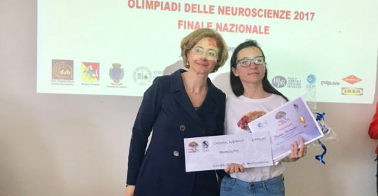 Bianca Slivinschi vince le Olimpiadi di Neuroscienze 2017