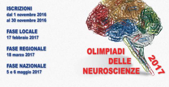 5-6 maggio Olimpiadi di neuroscienze 2017