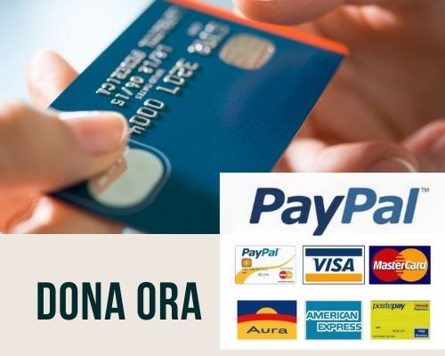 dona ora con carta di credito o paypal